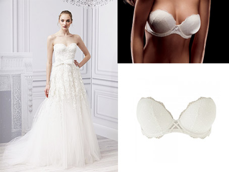 Robe bustier blanche pour mariage