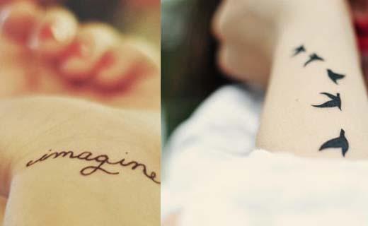 La lingerie tatouage c 39 est la nouvelle tendance - Tatouage hirondelle signification ...