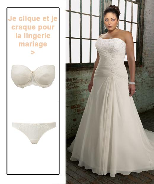 associer lingerie mariage et formes pulpeuses avec sa robe
