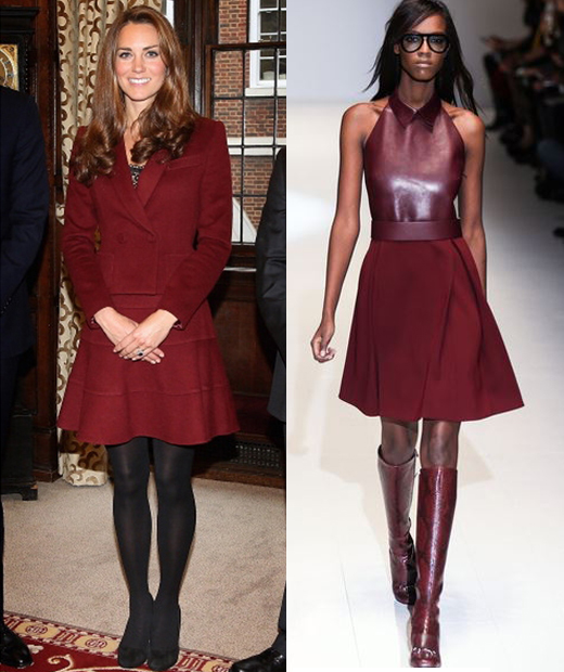 Conseil mode les looks de l 39 hiver tendance associ s au for Quelle couleur porter avec du rouge