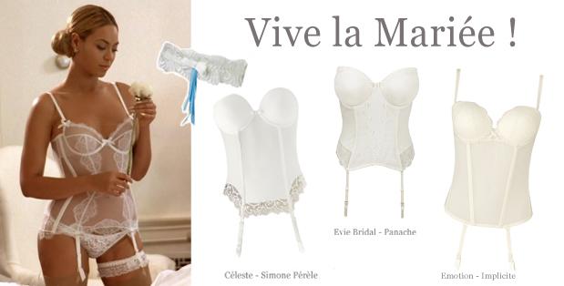 Beyonc et sa lingerie de mariage d couvrir sur lemon curve for Lingerie de mariage pour sous robe