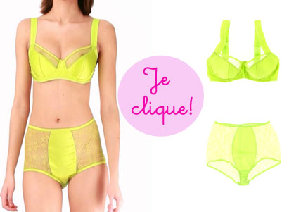 lingerie Dash of Lime, Fleur of England