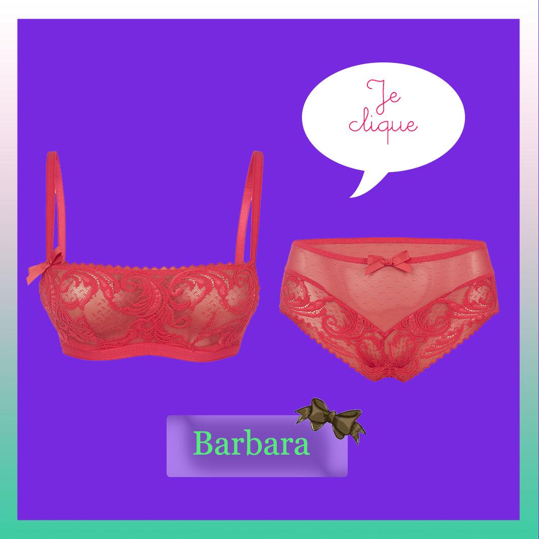 Parure lingerie Barbara