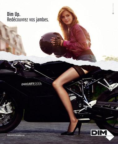 Publicités lingerie Dim collants