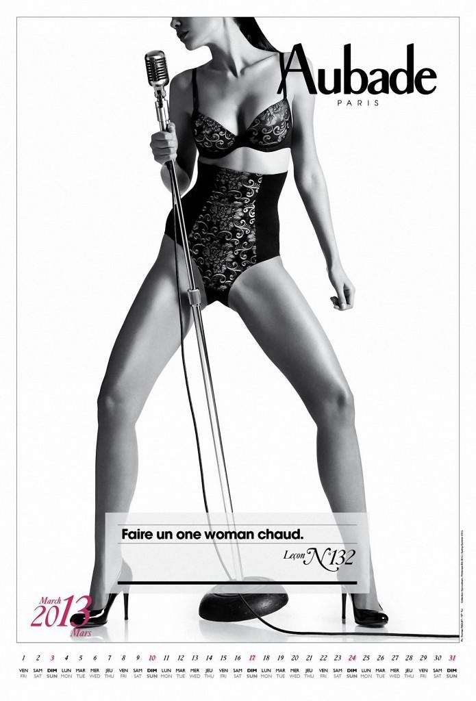 Publicités lingerie Aubade