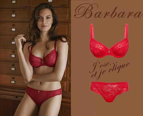 Lingerie rouge Icone de Barbara
