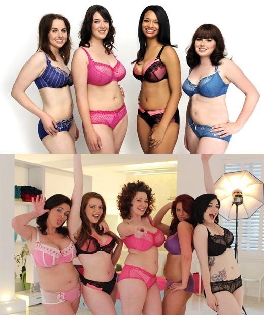 La lingerie grande taille portée par les mannequins souriantes de Curvy Kate