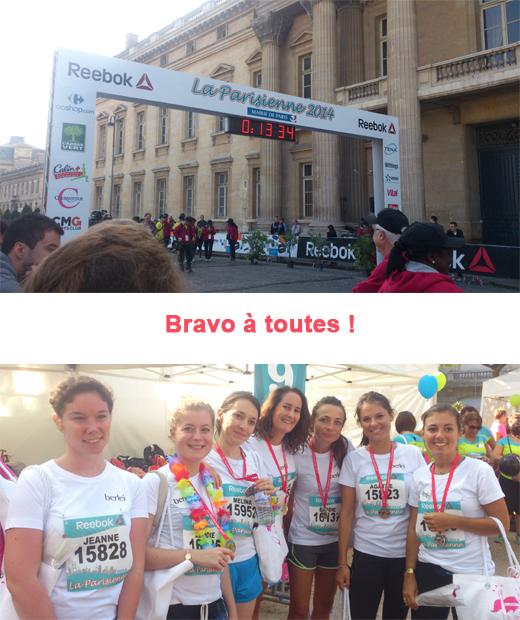 ligne d'arrivée de la course la parisienne