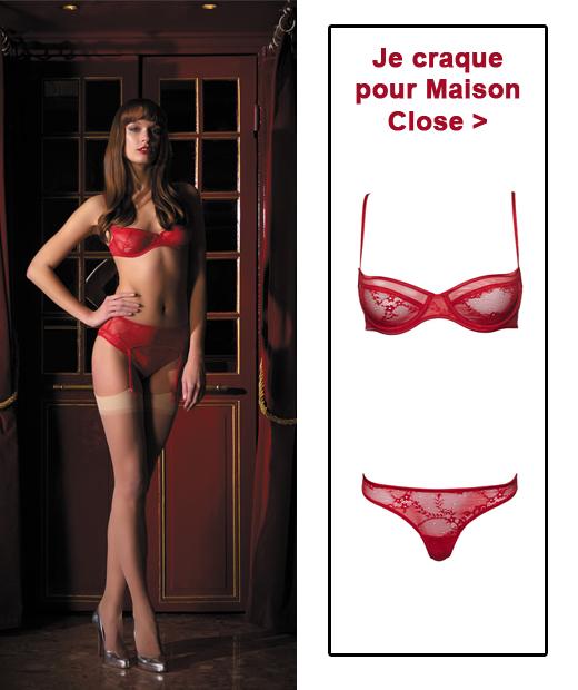 Lingerie rouge : Ligne Chaperon rouge de Maison Close