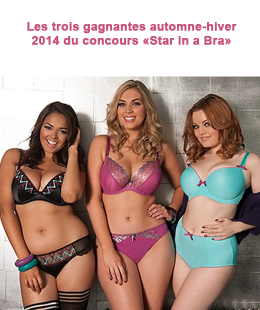 Les pulpeuses gagnantes du concours Star in a Bra photographiées en lingerie grande taille Curvy Kate