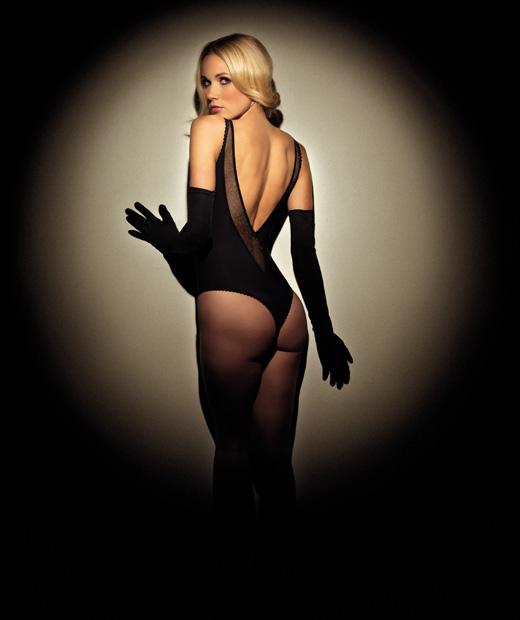 Body string noir Eblouis-moi de Playboy