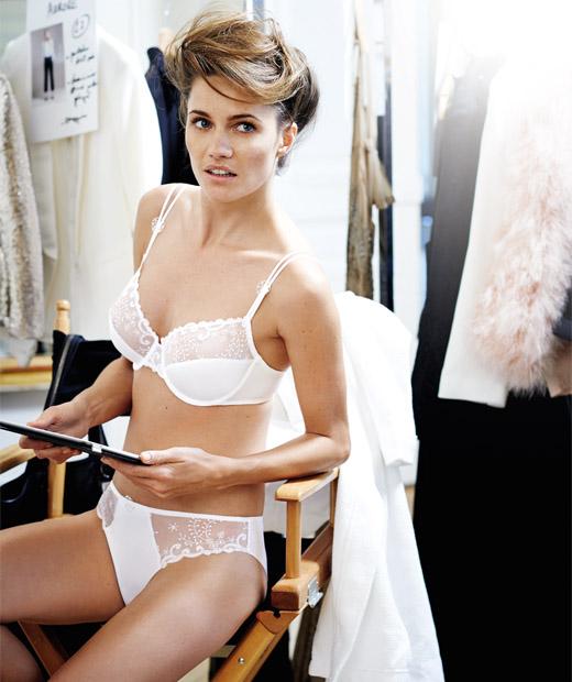 Parure de lingerie blanche Délice de Simone Pérèle