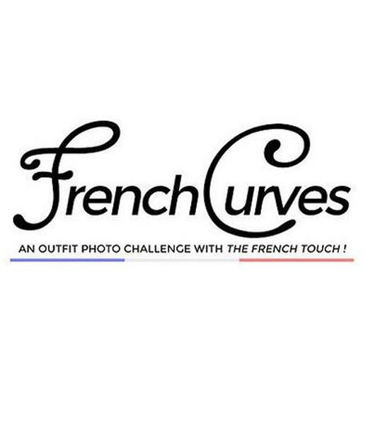 Logo du défi French Curves réalisé tous les mois sur les blogs mode