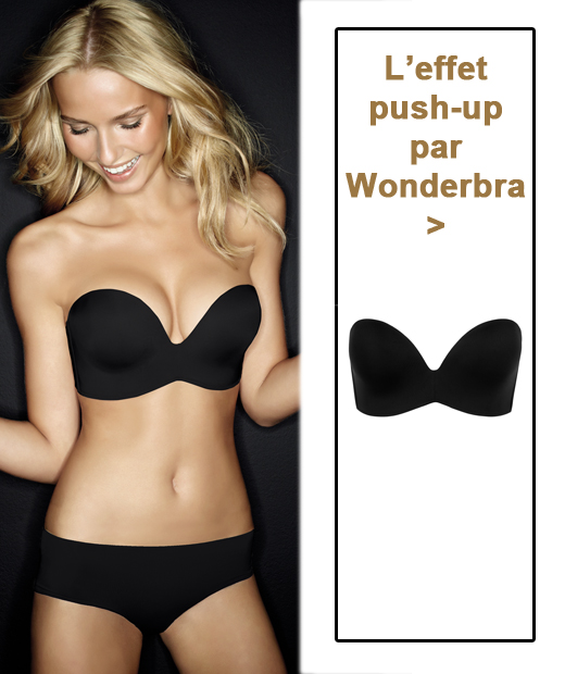 Soutien-gorge bandeau push-up de Wonderbra