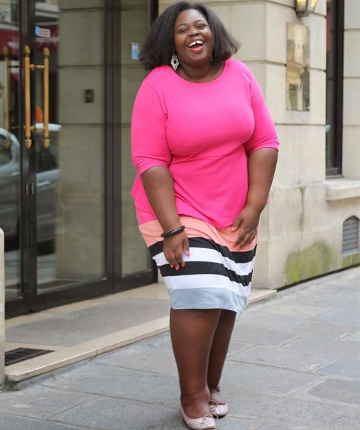 Robe rose neon portée sur le blog mode de Vanoue