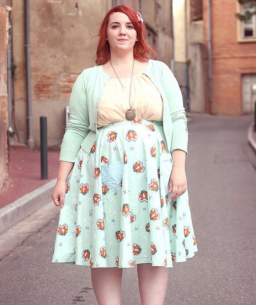 Jupe couleur mint du blog big or not to big