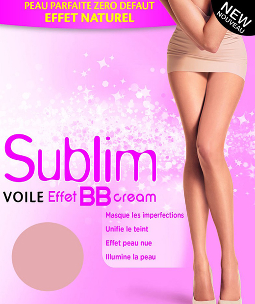 Collant sublim voile effet BB cream transparent de couleur chair