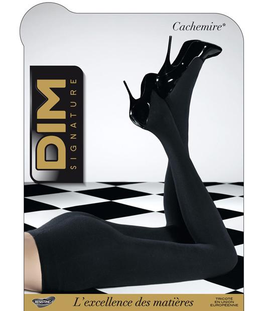 Collant opaque noir en cachemire Dim Chaussant