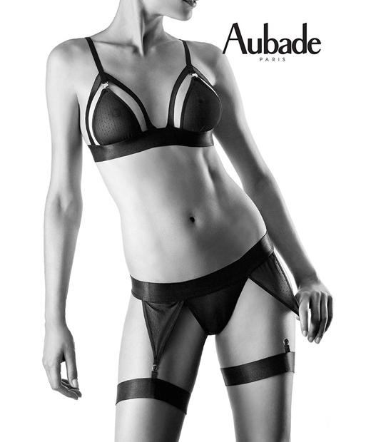 Parure de lingerie sexy Les Aimants d'Aubade issue de la ligne Boîte à Désir