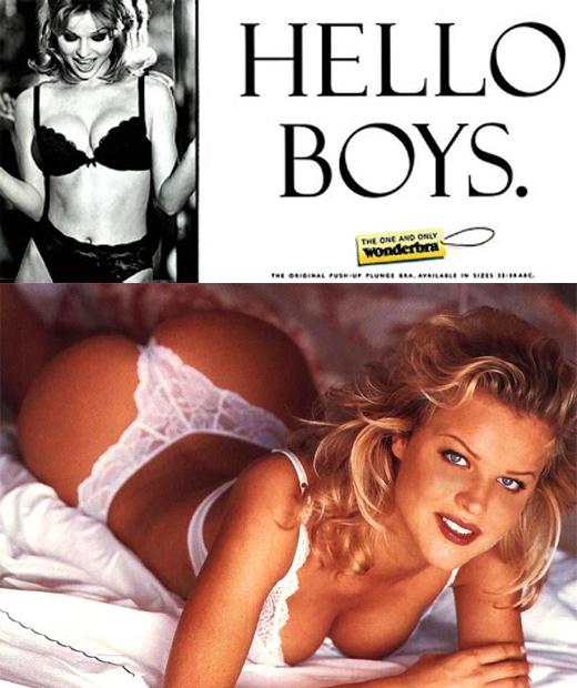 Hello Boys, campagne publicitaire très sexy de la marque de lingerie Wonderbra