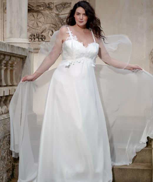 Johanna Dray a collaboré à une collection de robe de mariée grande taille