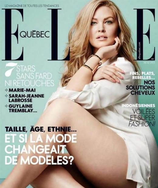 Justine LeGault en couverture de Elle Québec