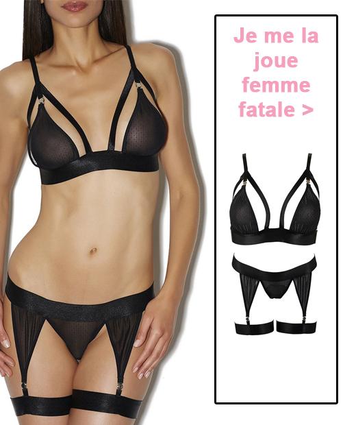 Parure de lingerie sexy Les Aimants d'Aubade