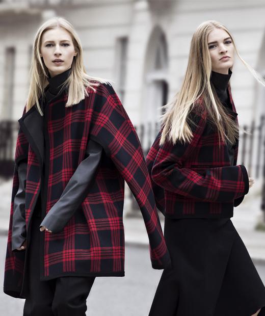 Manteau oversize et imprimé tartan de Zara