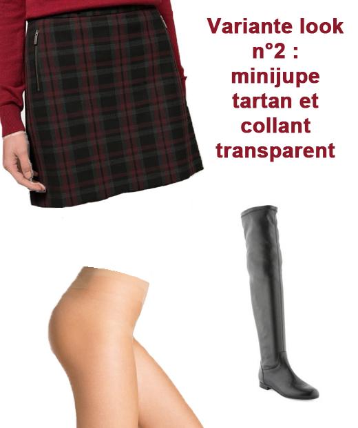 La minijupe tartan associée aux cuissardes est le must de cet hiver