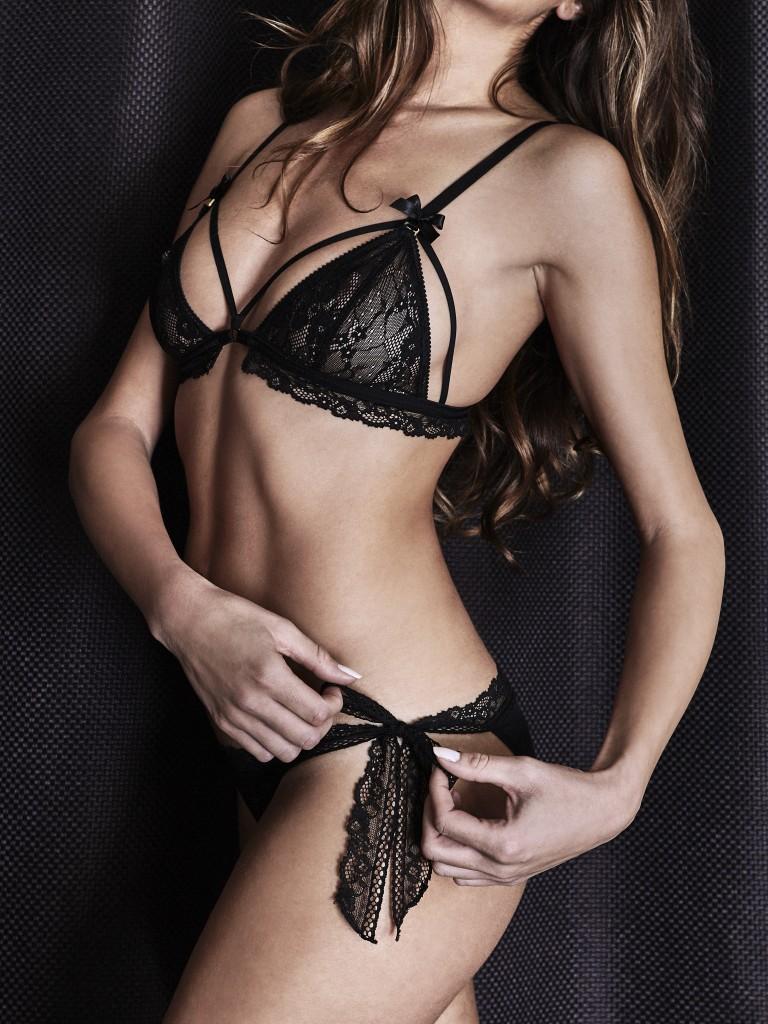 Midnight lingerie, culotte à nouettes