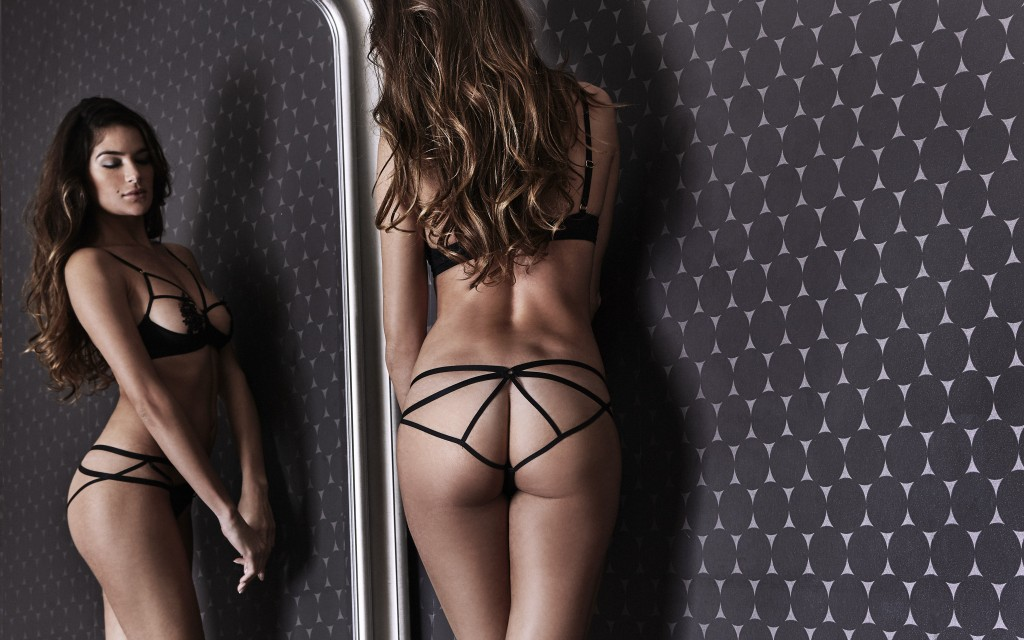 Midnight lingerie, culotte sexy