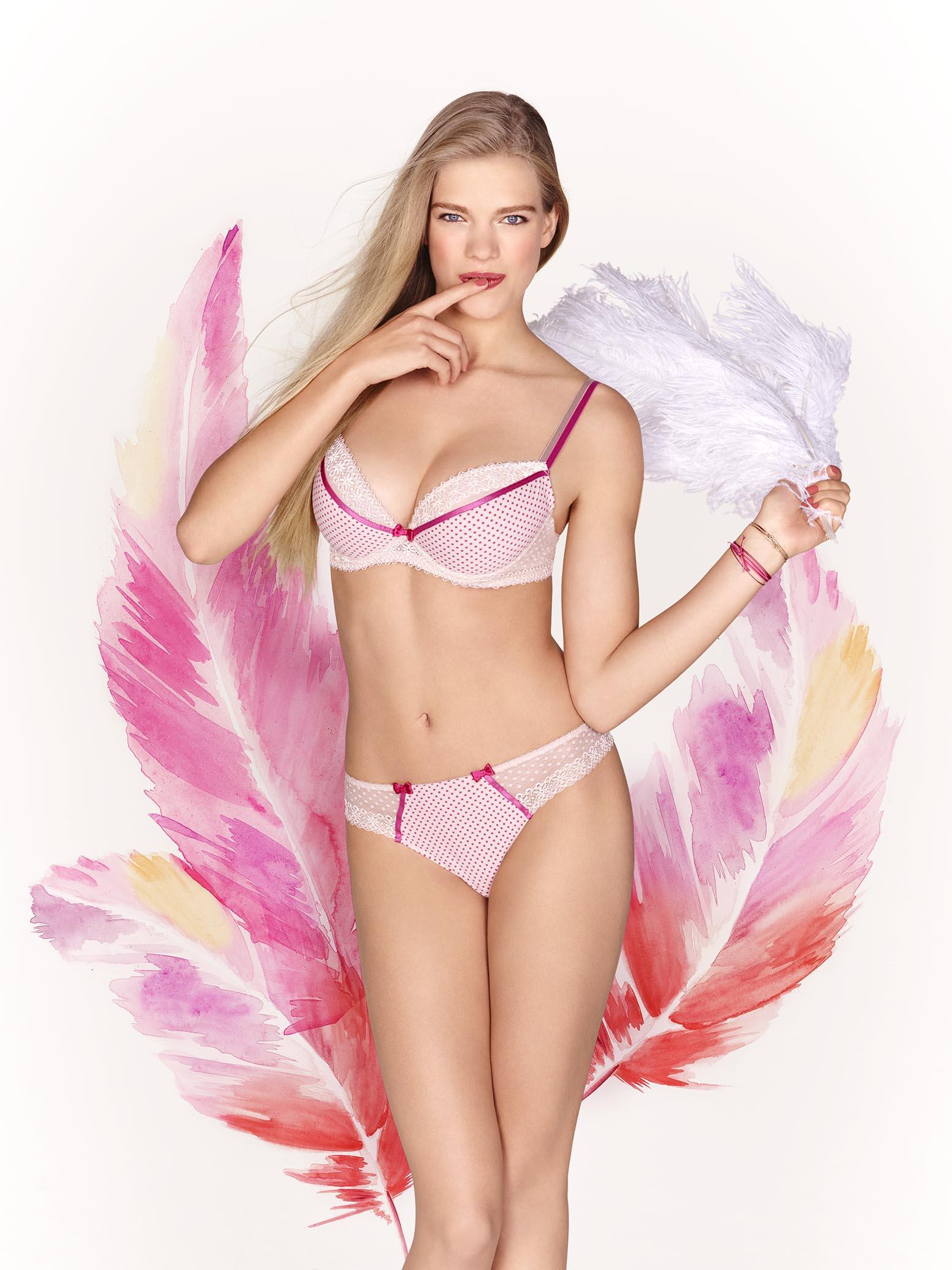 tendances lingerie : le pastel et l'imprimé géométrique