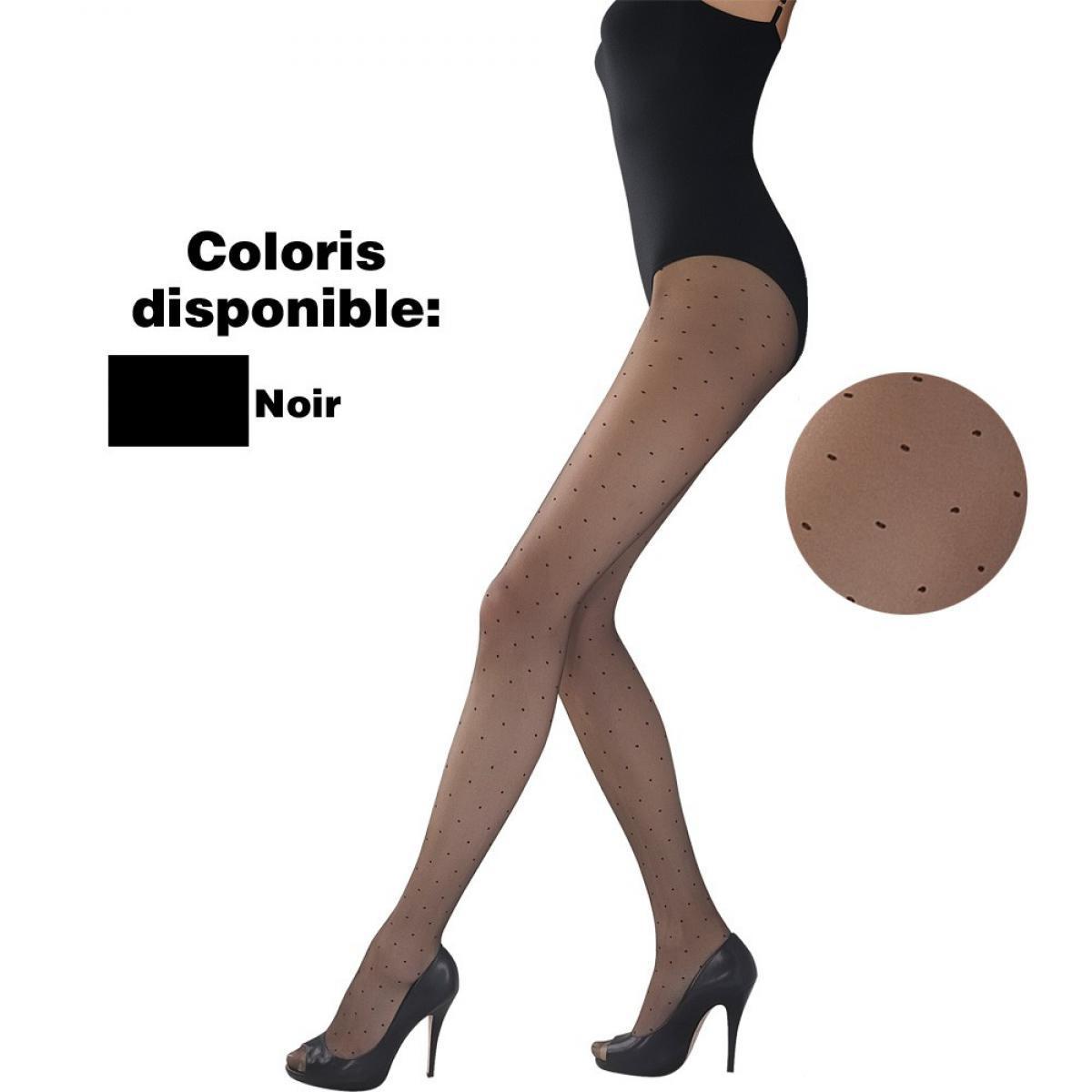 Collant plumetis 10D noir