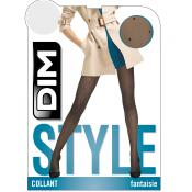 Collant Effet Plumetis Noir Dim Chaussant - Collants - Collants