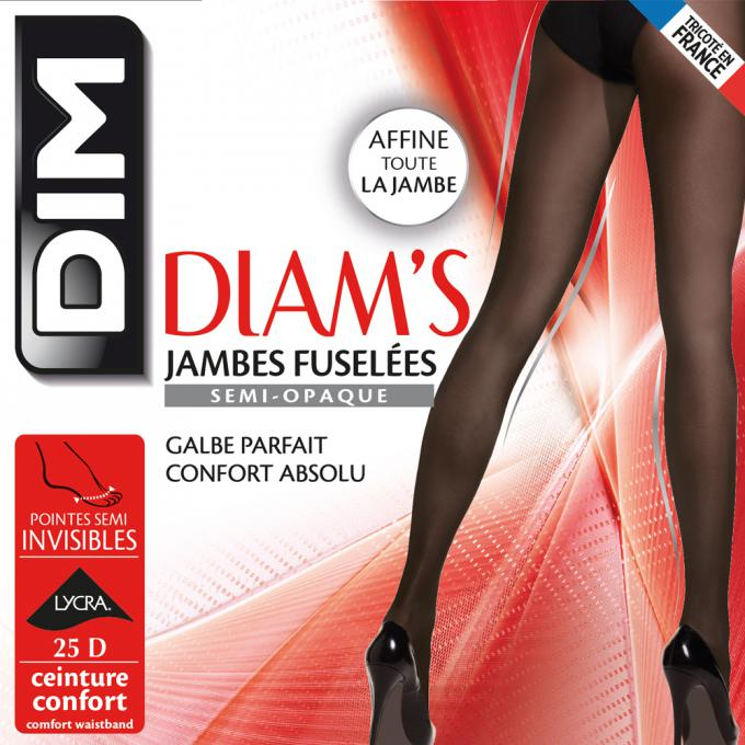 Diam s Jambes Fuselées 25D Diam s Noir par Dim chaussant ad6d461adb6