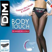 Collant Body Touch Ventre Plat 20D Noir Dim Chaussant - Collants - Collants