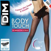Collant Body Touch Voile 20D Noir Dim Chaussant - Collants - Collants