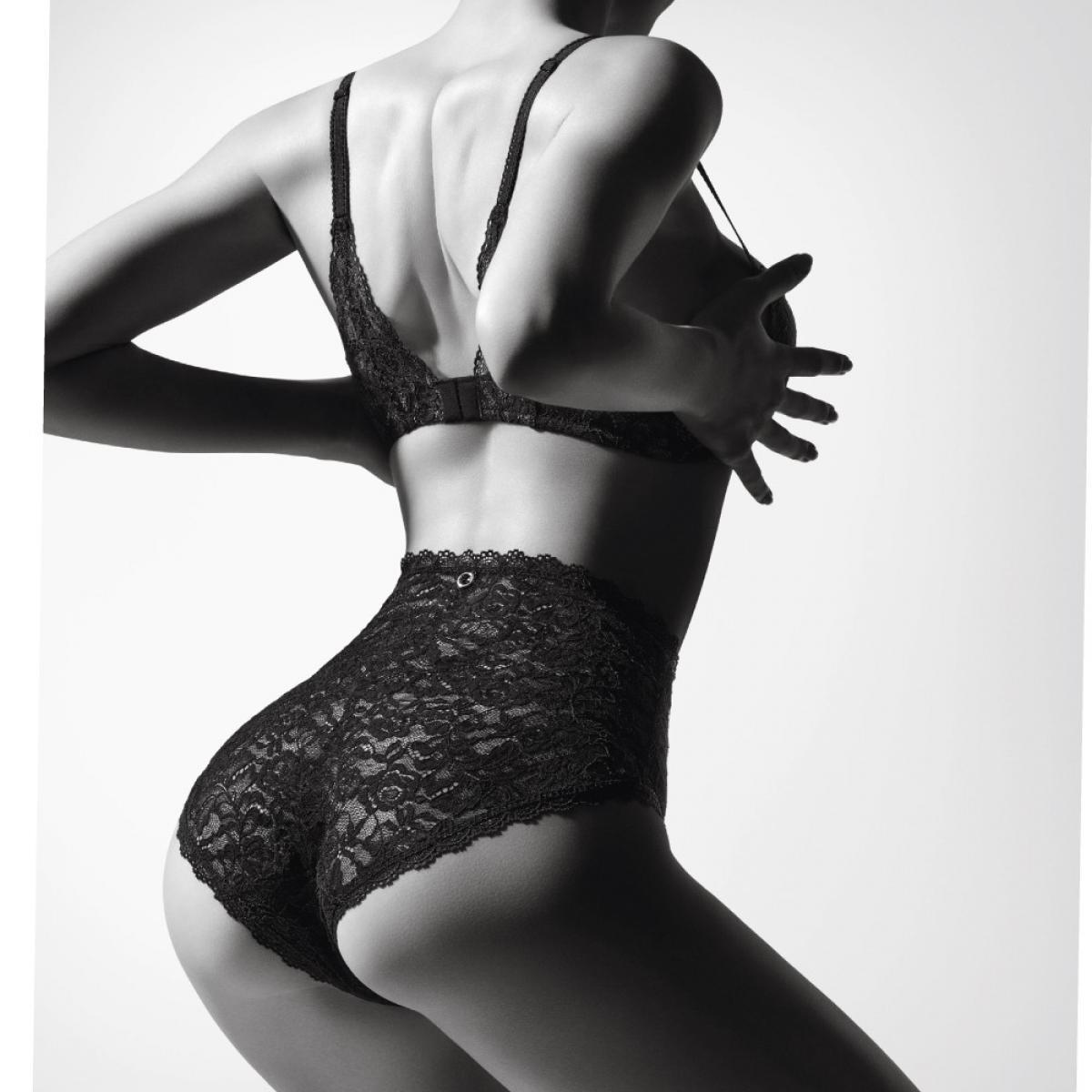 Culotte haute noire Aubade Rosessence - Lemon Curve 034ead30a20