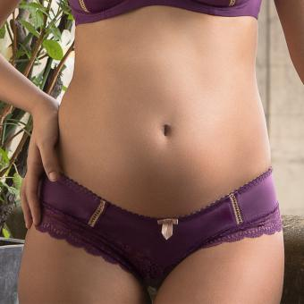 Shorty de grossesse violet