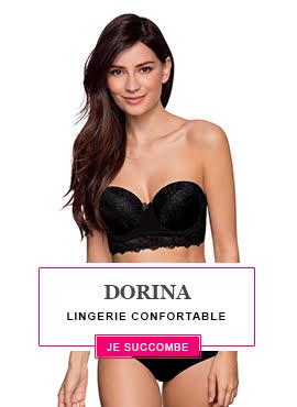 Craquez pour les dessous Dorina qui allient tendance et petits prix !