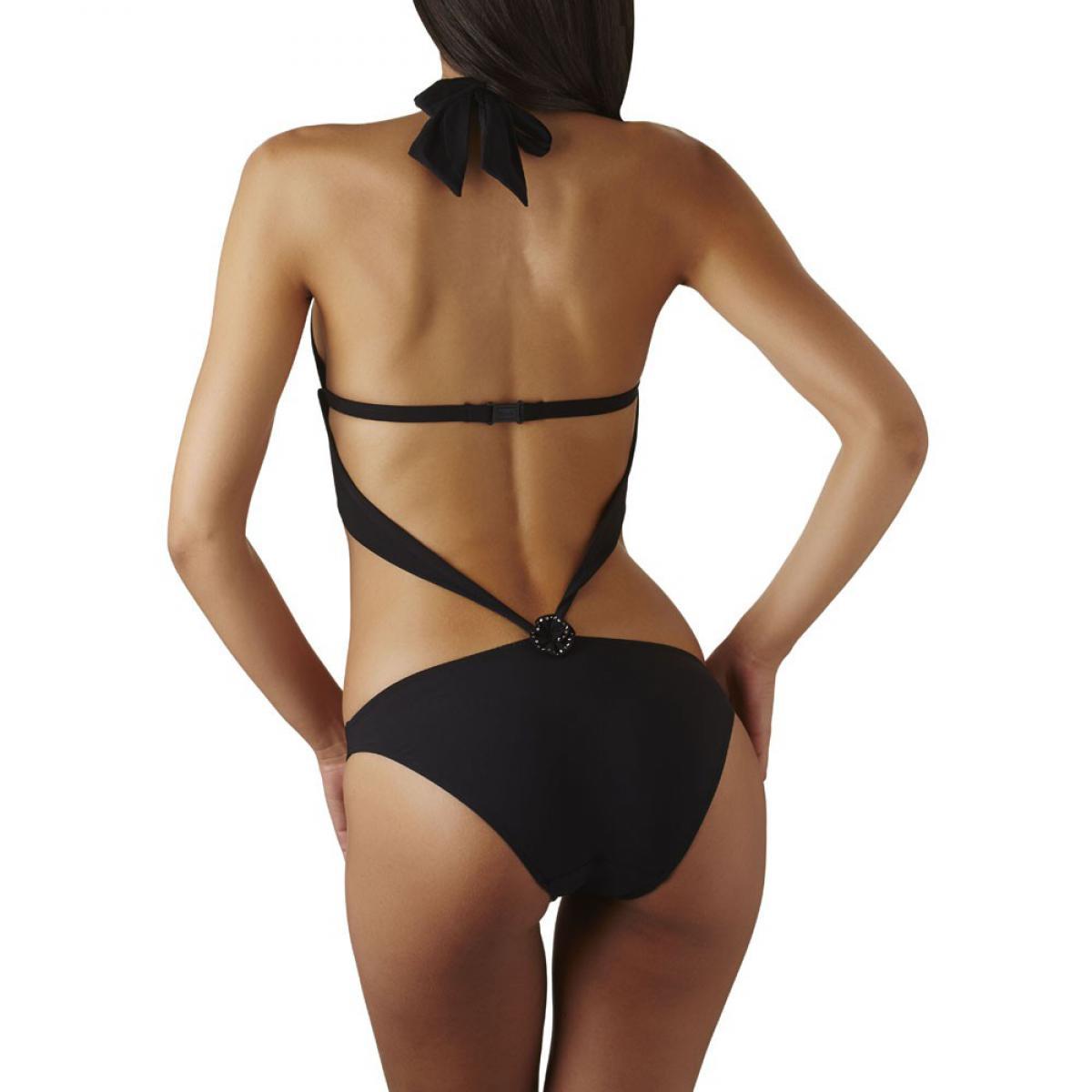 trikini fleurs des merveilles noir par aubade bain lemon curve. Black Bedroom Furniture Sets. Home Design Ideas