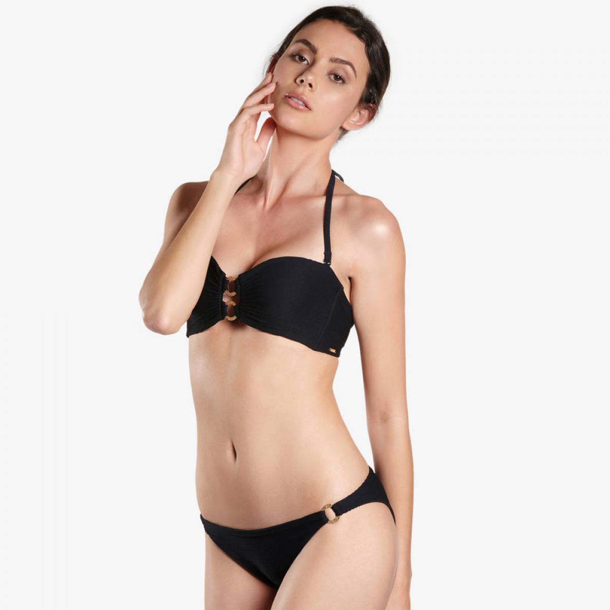 a511343047 Culotte de bain mini-coeur noire Aubade Maillots - Lemon Curve