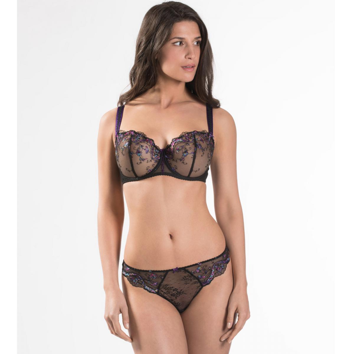Soutien-gorge corbeille confort noir Aubade Femme Romantique - Lemon ... 784a344e14e
