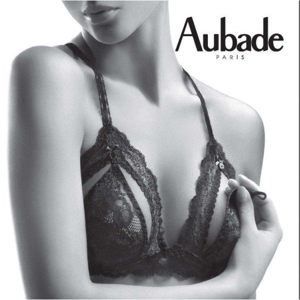 Soutien-gorge triangle Boite à Desir noir par Aubade 3e493ce85b0