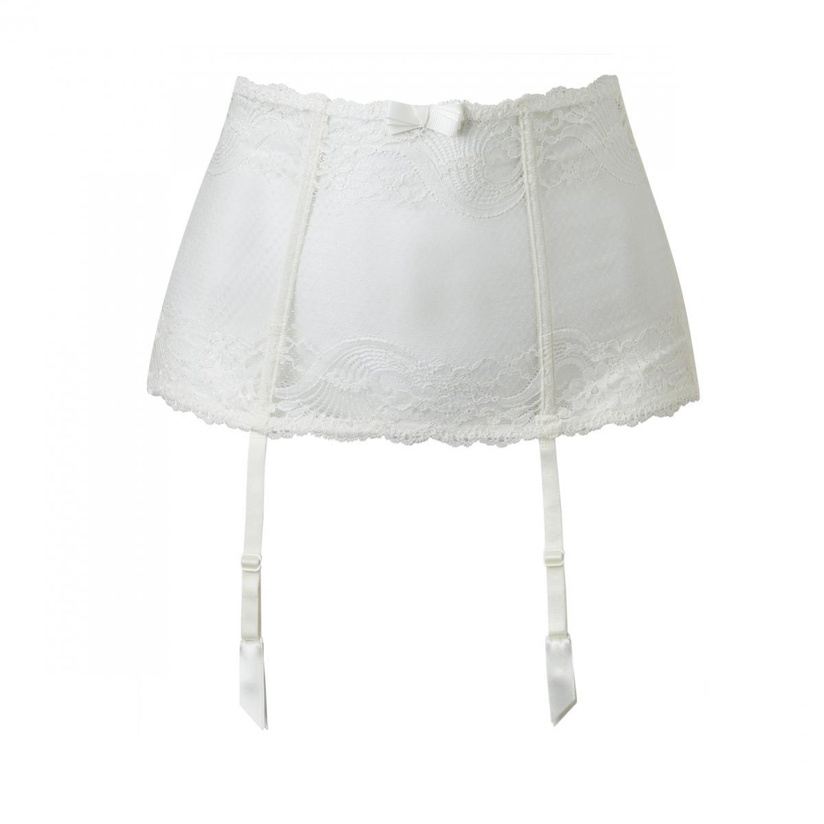 Serre taille l 39 insoumise ivoire par aubade lemon curve - Serre taille porte jarretelle ...