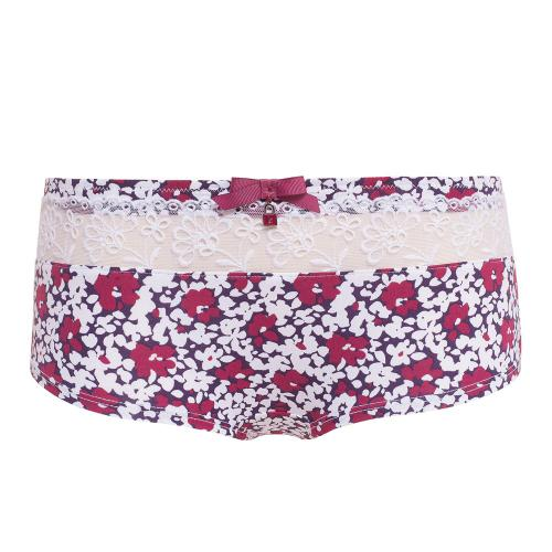 Shorty Multicolore-Blanc-Rouge Barbara