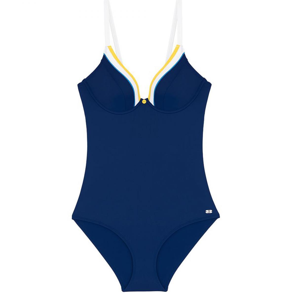 Promo : Maillot de bain une pièce armatures Bestform maillot Maillot de bain une pièce armatures bleu