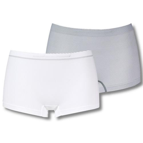 Lot de 2 Shortys Blanc-Gris