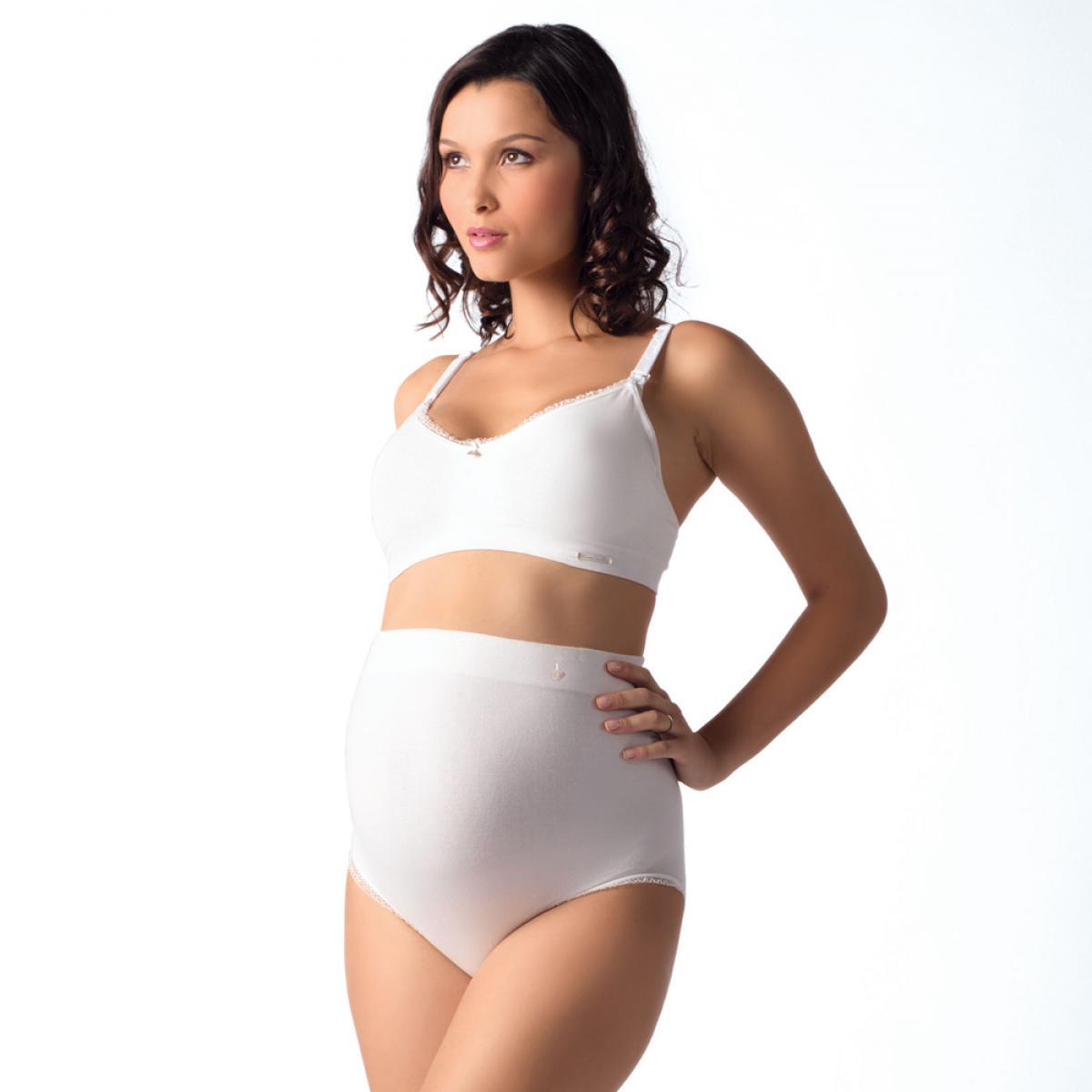 68bd1b600 Culotte haute de grossesse blanche Cache Coeur - Lemon Curve