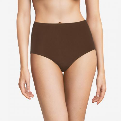 Culotte stretch grande taille marron